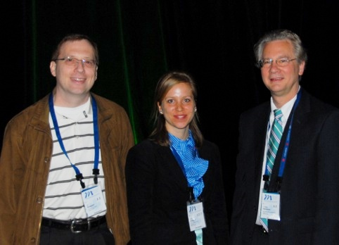 Kai Ruppert (UVa), Isabel Dregely (UNH), and Bill Hersman (UNH and Xemed) at the ISMRM Young Investigator Award ceremony
